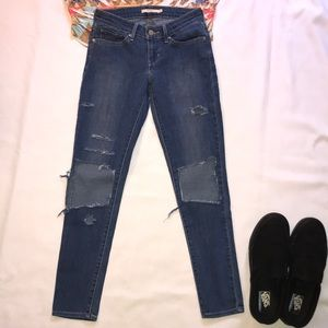 Levi's Vintage 711 Skinny Distressed Jeans